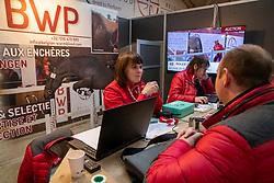 BWP stand, De Pauw Kristof, Quinten Marieke<br /> BWP Hengstenkeuring -  Lier 2020<br /> © Hippo Foto - Dirk Caremans<br />  17/01/2020