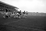 All Ireland Senior Football Championship Final, Dublin v Galway, 22.09.1963, 09.23.1963, 22nd September 1963, Dublin 1-9 Galway 0-10,..Colleran, Galway (No.2) and team-mate McDonagh have this ball safe as Dublin forwards players Ferguson and Timmons advance ..