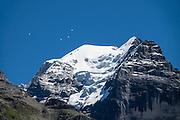 Mürren, Lauterbrunnen Valley, Switzerland, the Alps, Europe.