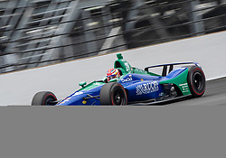 May 20, 2018 - Indianapolis, IN, U.S. - INDIANAPOLIS, IN - MAY 20: Carlos Munoz, driver of the #29 Ruoff Home Mortgage Honda, on the track for the practice session during Pole Day for the Indianapolis 500, on May 20, 2018 at the Indianapolis Motor Speedway in Indianapolis, IN (Photo by Khris Hale/Icon Sportswire) (Credit Image: © Khris Hale/Icon SMI via ZUMA Press)