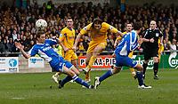 Photo: Steve Bond/Sportsbeat Images.<br />Torquay United v Exeter City. The FA Blue Square Premier. 01/01/2008. Chris Hargreaves (C) shoots