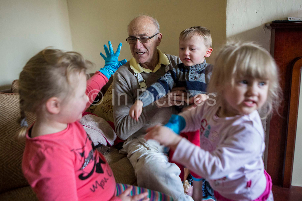 The decoration manager who assists the volunteers also makes time to engage with the children in the family house where he is working. Longton Community Church to improve the lives of those in need in their local community, Leyland, Lancashire.