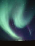 Aurora above the Blackstone Plateau, early morning hours of August 30, 2003, Tombstone Territorial Park, Yukon Territory, Canada.