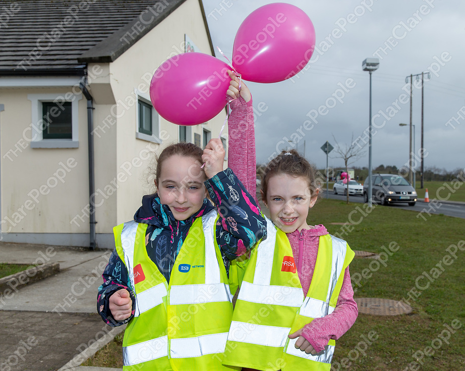 Sophie Breen from Ennis and Roisin Moloney from Corofin at the 'Go Pink for Maxine' Memorial 5K Run/Walk on Saturday