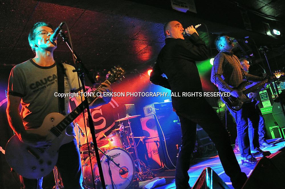 The Undertones play at King Tuts Wah Wah Hut, Glasgow.