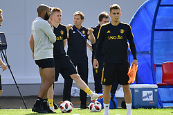 July 8, 2018 - Moscou, Russie - Kevin De Bruyne forward of Belgium and Thierry Henry ass. coach of Belgian Team (Credit Image: © Panoramic via ZUMA Press)