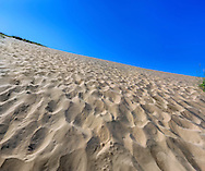 A myriad of footprints, mostly those of children and a few adults, up to the top they go, Sleeping Bear Dunes National Lakeshore, Glen Arbor, Michigan, USA