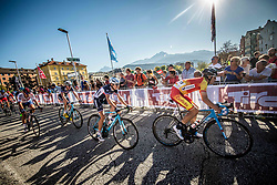 CHAMPOUSSIN Clement of France, CASTRILLO ZAPATER Jaim of Spain during the Men Under 23 Road Race 179.9km Race from Kufstein to Innsbruck 582m at the 91st UCI Road World Championships 2018 / RR / RWC / on September 28, 2018 in Innsbruck, Austria.  Photo by Vid Ponikvar / Sportida