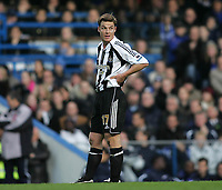 Photo: Lee Earle.<br /> Chelsea v Newcastle United. The Barclays Premiership.<br /> 19/11/2005. Former Chelsea player Scott Parker looks dejected as Newcastle trail.