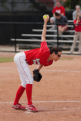 15 April 2012:  Jordan Birch during an NCAA women's softball game between the Drake Bulldogs and the Illinois State Redbirds on Marian Kneer Field in Normal IL