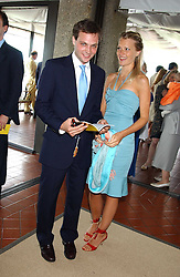 The HON.ED SACKVILLE and LADY ALEXANDRA GORDON-LENNOX at the 4th day of the 2005 Glorious Goodwood horseracing festival at Goodwood Racecourse, West Sussex on 29th July 2005.    <br /><br />NON EXCLUSIVE - WORLD RIGHTS