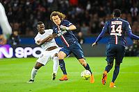 David LUIZ / Modibo MAIGA - 28.04.2015 - Paris Saint Germain / Metz - Match en retard - 32eme journee Ligue 1<br />Photo : Nolwenn Le Gouic / Icon Sport