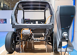 Cut away of BMW i Life Drive electric car concept at Paris Motor Show 2012