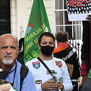 Brazilian, Kurdish and West Papua unite protest against fascism and colonialisation on 3rd July 2021, at Charing Cross road, London, UK.