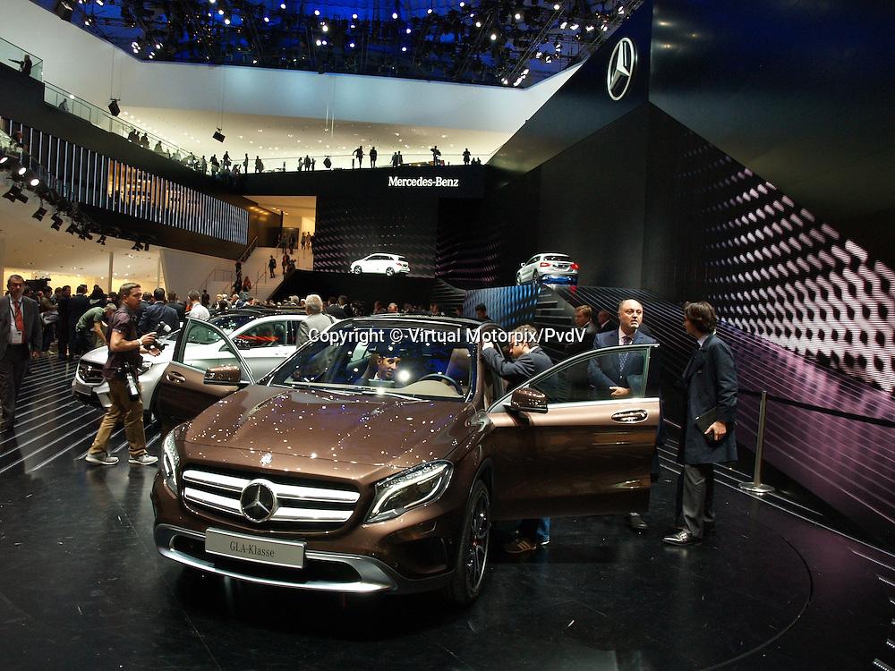 Mercedes GLA class at the IAA 2013, Frankfurt, Germany