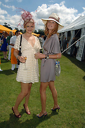 Left to right, sisters ALEXIA INGE and model OLIVIA INGE  at the final of the Veuve Clicquot Gold Cup 2007 at Cowdray Park, West Sussex on 22nd July 2007.<br /><br />NON EXCLUSIVE - WORLD RIGHTS