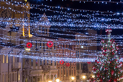 01.12.2018, Rijeka, CRO, Advent in Kroatien, im Bild Beginn des Advents mit Dekoration und Weihnachtsbeleuchtung // Beginning of the Advent with decoration and Christmas lights Rijeka, Croatia on 2018/12/01.12.2018. EXPA Pictures © 2018, PhotoCredit: EXPA/ Pixsell/ Nel Pavletic<br /> <br /> *****ATTENTION - for AUT, SLO, SUI, SWE, ITA, FRA only*****