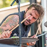 BALTIMORE United States - September 27, 2014: Jamin Marshall of Larry and His Flask, performs at The Shindig, in Baltimore's historic Carroll Park