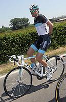 Sykkel<br /> Giro d Italia 2011<br /> Foto: PhotoNews/Digitalsport<br /> NORWAY ONLY<br /> <br /> 09.05.2011  <br /> Giro d Italia. Tredje etappe<br /> <br /> Den belgiske syklisten Wouter Weylandt omkom i et velt <br /> <br /> Rappalo - Italie - wielrennen - cycling - radsport - cyclisme - Giro D'Italia  2011 - 3e etappe Reggio Emilia > Rappalo 173 km  - Wouter Weylandt (Leopard - Trek)