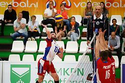 20170524 NED: 2018 FIVB Volleyball World Championship qualification, Koog aan de Zaan<br />Juan Pablo Stutz (10) of Luxembourg<br />©2017-FotoHoogendoorn.nl / Pim Waslander