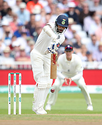 India's Lokesh Rahul bats during day one of the Specsavers Third Test match at Trent Bridge, Nottingham.