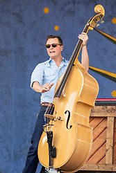 May 3, 2018 - New Orleans, Louisiana, U.S - MORGAN JAHNIG of Old Crow Medicine Show during 2018 New Orleans Jazz and Heritage Festival at Race Course Fair Grounds in New Orleans, Louisiana (Credit Image: © Daniel DeSlover via ZUMA Wire)