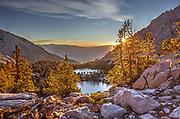 Onion Valley, Sierra Nevada mountain range, at sunset CA USA