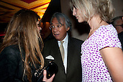 jemima khan; david tang; nicola fornby, Early launch of Rupert's. Robin Birley  new premises in Shepherd Market. 6 Hertford St. London. 10 June 2010. .-DO NOT ARCHIVE-© Copyright Photograph by Dafydd Jones. 248 Clapham Rd. London SW9 0PZ. Tel 0207 820 0771. www.dafjones.com.