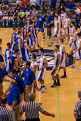 25 June 2011: Teams meet at center court before tip off at the 2011 IBCA (Illinois Basketball Coaches Association) boys all star games.