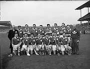Hurling, Railway Cup Final, Munster v. Leinster.Munster Team.17.03.1962