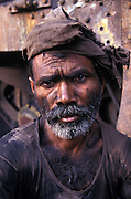Portrait of a railway worker, Varanasi,Uttar Pradesh