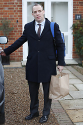 © Licensed to London News Pictures. 13/12/2018. London, UK. Former Brexit Secretary Dominic Raab leaves home. Prime Minister Theresa May is in Brussels today after winning the vote of confidence. Photo credit: Peter Macdiarmid/LNP