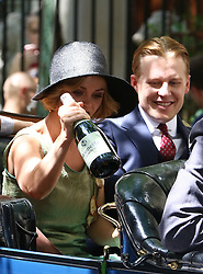 August 9, 2016 - New York, New York, United States - Actress Christina Ricci and David Hoflin on the set of the new TV show 'Z: The Beginning of Everything' on August 9 2016 in New York City  (Credit Image: © Zelig Shaul/Ace Pictures via ZUMA Press)