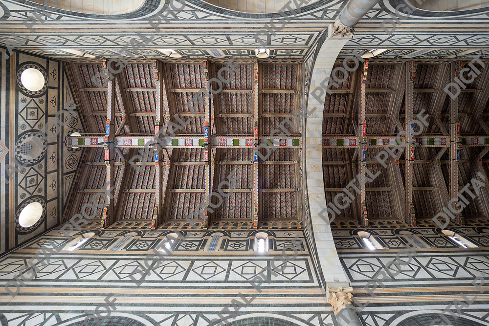 Vault ceiling of  San Miniato al Monte church in Florence, Tuscany region - Italy