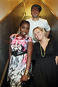 l to r: Estelle, Ginny Suss and Dan Petruzzi at The ROOTS Present the Jam produced by Jill Newman held at The Highline Ballroom on May 25, 2009
