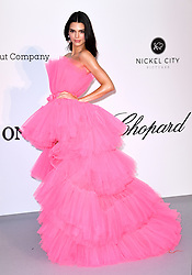 Kendall Jenner attending the 26th amfAR Gala held at Hotel du Cap-Eden-Roc during the 72nd Cannes Film Festival. Picture credit should read: Doug Peters/EMPICS
