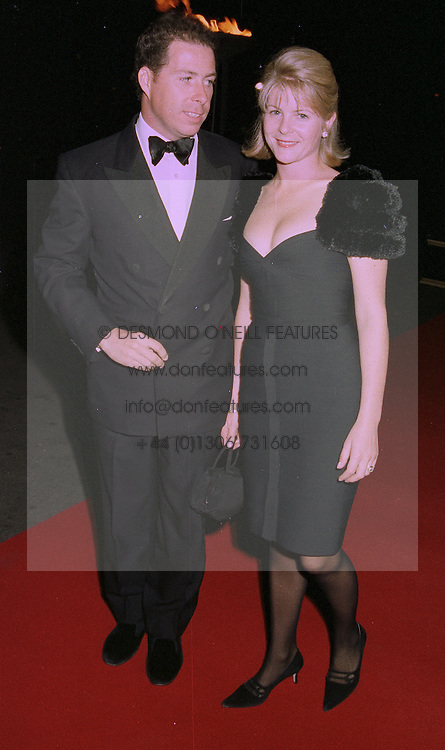 VISCOUNT & VISCOUNTESS LINLEY at an exhibition in London on 1st October 1997.MBU 7