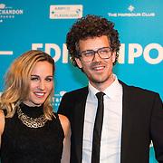 NLD/Amsterdam//20140331 - Uitreiking Edison Pop 2014, Krystl Pullens en partner Paul Rabbering
