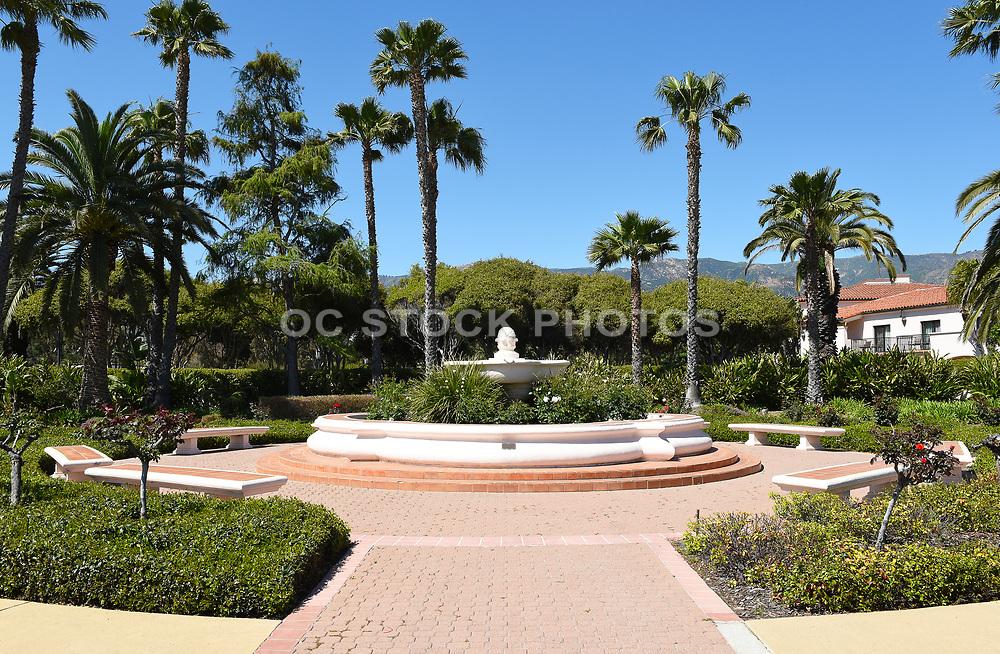 Courtyard with Fountain at the Hilton Santa Barbara Beachfront Resort