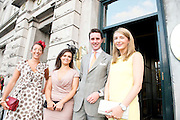 Sarah Lonergan, Kildare, Judith Riordan, Dublin, Rory Kirrane, Dublin, Claire Ford, Claregalway  at the Hotel Meyrick  Most Stylish Lady event on ladies day of The Galway Races. Photo:Andrew Downes