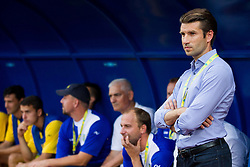 Luka Elsner, head coach of NK Domzale during 1st Leg football match between NK Domzale (SLO) na FC Cukaricki (SRB) in 1st Round of Europe League 2015/2016 Qualifications, on July 2, 2015 in Sports park Domzale,  Slovenia. Photo by Vid Ponikvar / Sportida