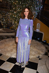 Trinny Woodall at reception to celebrate the launch of the Claridge's Christmas Tree 2017 at Claridge's Hotel, Brook Street, London England. 28 November 2017.