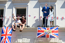 Royal fans along the Long Walk after the wedding of Prince Harry and Meghan Markle in St George's Chapel in Windsor Castle.