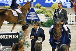 Delaveau Patrice (FRA) - Carinjo HDC<br /> Winner of the Longines Cup<br /> Furusiyya FEI Nations Cup Jumping Final<br /> CSIO Barcelona 2013<br /> © Dirk Caremans