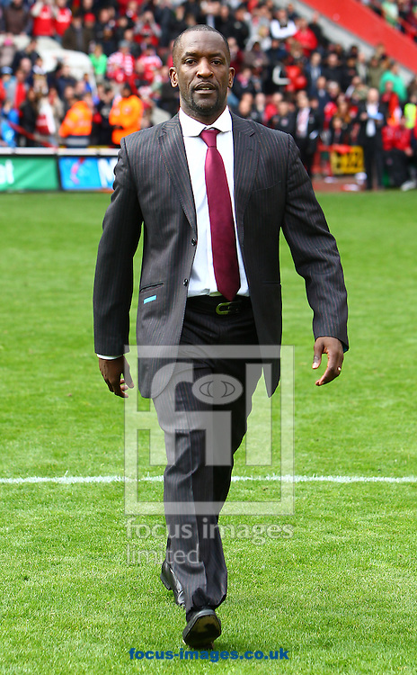 Picture by John Rainford/Focus Images Ltd. 07506 538356.05/05/12.Chris Powell of Charlton Athletic goes to collect his Npower League 1 winners medal at The Valley stadium, London.