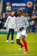 France's Paul Pogba warms up prior to the International Friendly Game football match between France and Colombia on march 23, 2018 at Stade de France in Saint-Denis, France - Photo Geoffroy Van Der Hasselt / ProSportsImages / DPPI