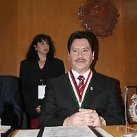 Toluca, Mex.- German Garcia Salgado, presidente de la Benemerita Sociedad Mexicana de Geografia y Estadistica del Estado de Mexico, donde entrego Los Pergaminos al Merito 2006. Agencia MVT / Carlos Tischler (DIGITAL)<br /> <br /> NO ARCHIVAR - NO ARCHIVE