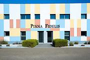 Winery Bodega Pinna Fidelis ribera del Duero wine production in Penafiel district by River Duero in Castile and Leon, Spain