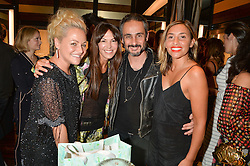 Left to right, JAIME WINSTONE, BRIGITTA SPINOCCHIA FREUND, ARA VARTANIAN and MELANIE BLATT at a party to celebrate the opening of the jeweller Ara Vartanian's Flagship Store 44 Bruton Place, London on 7th September 2016.