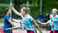BILTHOVEN (NETH.) - EuroHockey Club Champions Cup 2016 women. UHC Hamburg v Club Campo de Madrid for 3rd place . (3-2).  Katharina Otte (UHC) scored  . COPYRIGHT KOEN SUYK